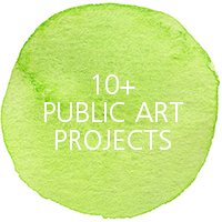 10+ public art projects