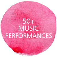 50+ music performances