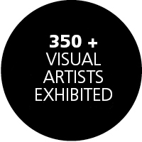 350 VISUAL ARTISTS EXHIBITED