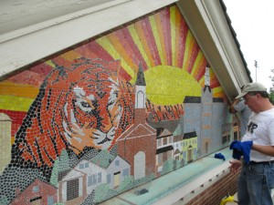Heights public arts youth center installation