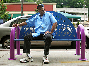 Heights Arts public installation coventry bench