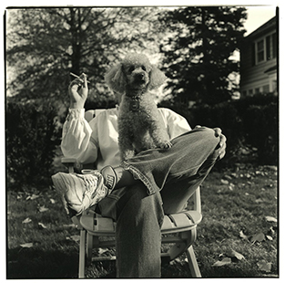Herber Ascherman, self portrait with poodle